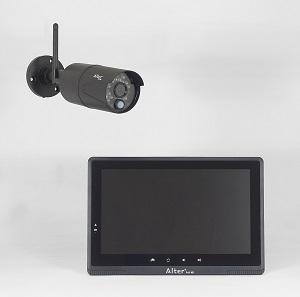 防犯カメラ ワイヤレス モニター セット 監視カメラ ワイヤレスカメラ セット フルHD 防犯カメラ AFH-101【送料無料】