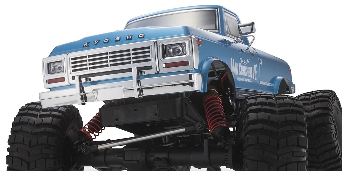 京商 1/8スケール ラジオコントロール ブラシレスモーターパワード 4WD モンスタートラック マッドクラッシャー VE レディセット