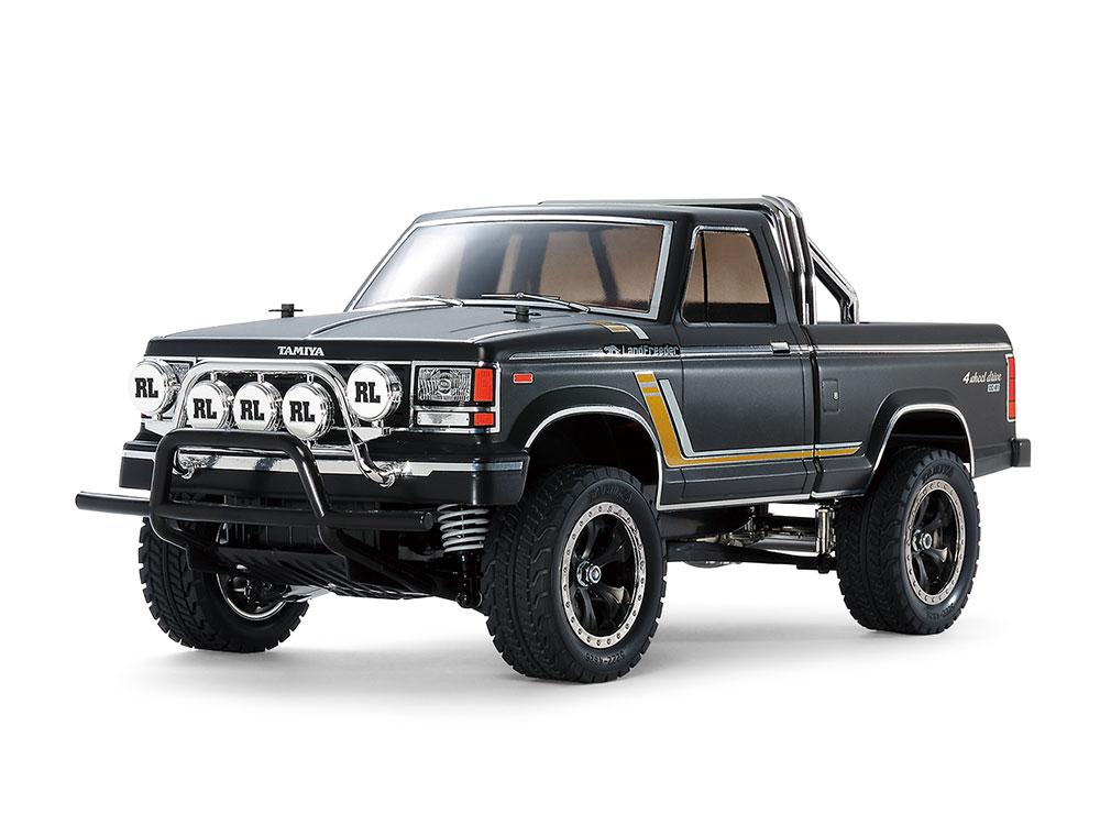 タミヤ 4WD電動ラジコンカー組立キット・ランドフリーダー(マットブラックボディペイント済)