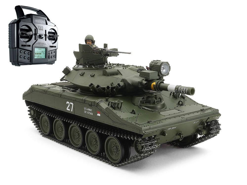 タミヤ 1/16RC アメリカ空挺戦車 M551 シェリダン フルオペレーションセット(プロポ付)組み立てキット1/16 SCALE R/C U.S. AIRBORNE TANK M551 SHERIDAN FULL-OPTION COMPLETE KIT