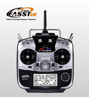 FUTABA 14SG(14ch-2.4GHz FASSTestモデル)・ヘリ用 T/Rセット