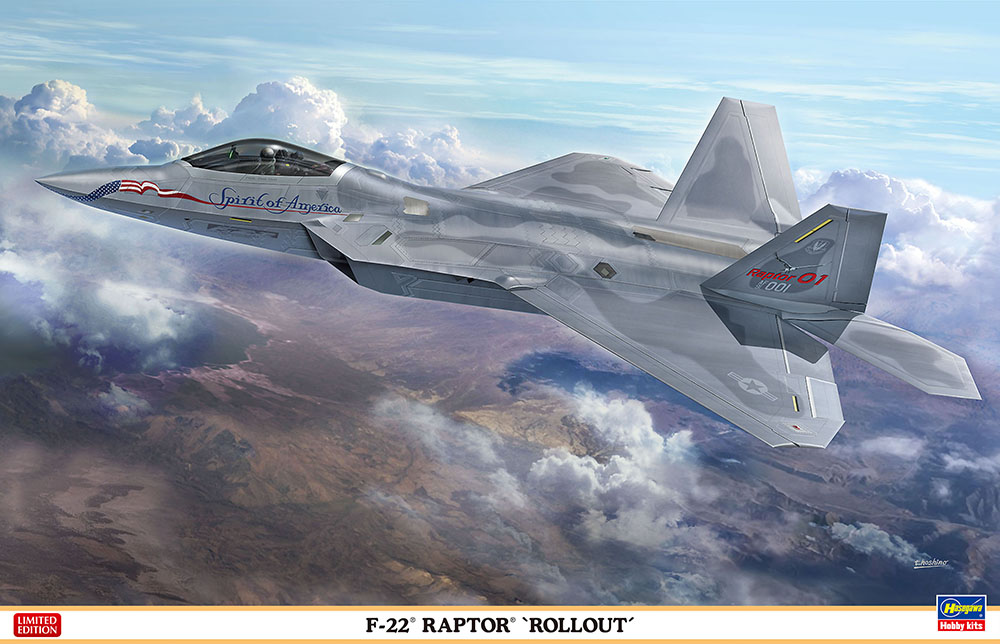 HASEGAWA 1/48スケールプラモデル F-22 RAPTOR 'Rollout'