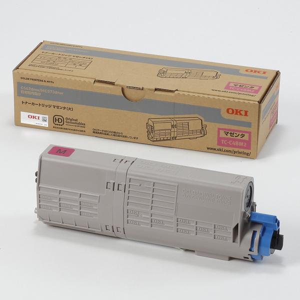 OKI トナーカートリッジ TC-C4BM2(マゼンタ大容量) 純正品