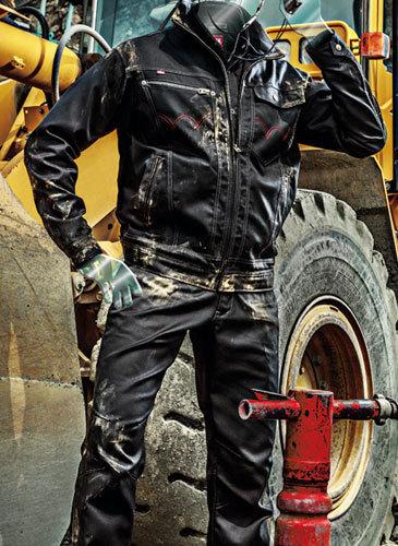 エドウィンブランドの最上級クラスの作業着です 大人気 山田辰 長袖ブルゾン エドウィン 作業着 ストレッチで作業着に最適 帯電防止織物使用 正規品 予約 上下セット 品番32-82006 信憑 #32-82006