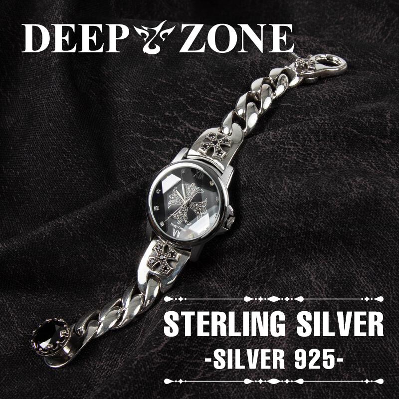 メンズ 腕時計 シルバー925製 ブレスレットウォッチ 送料無料