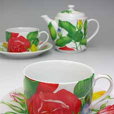 Cup & Saucer tea coffee cup teapot Italy TAITU Tea For Two rose [fun gift _ packaging [fun gift _ packaging selection [fun gift _ then [fun gift _ then written 10P01Oct16.