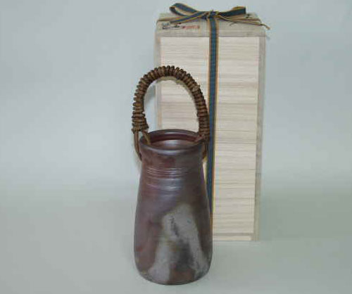 花器 花瓶 一輪挿し 備前焼 つる付花入(桟切)