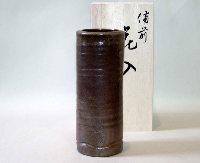 花器 花瓶 花びん 一輪挿し 備前焼 筒花入(桟切)
