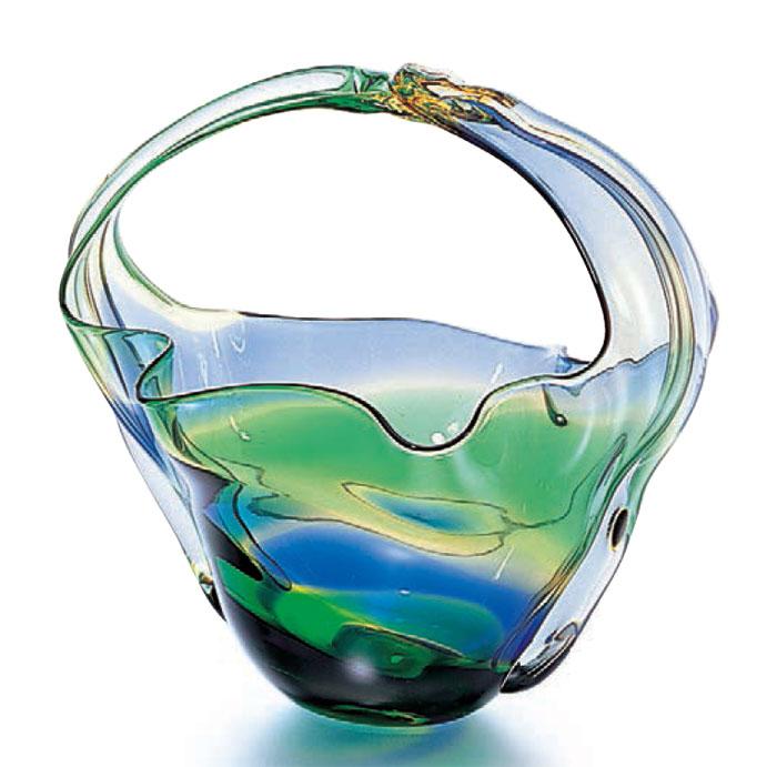 ガラス 花瓶 花器 フラワーベース ブランド買うならブランドオフ 安心の定価販売 花入 ビードロ 送料無料 手付き びいどろ