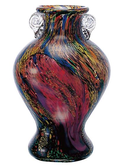 津軽びいどろ 花器(十和田・花)  津軽ビードロ つがる ビードロ びいどろ ガラス 青森 お土産 伝統工芸 生け花 フラワーベース 花器 花瓶 ハンドメイド 花入 日本製 おしゃれ ギフト プレゼント