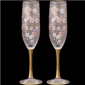ワイングラス 桜 さくら アデリア エル・ドラード SAKURA シャンパン ペアセット