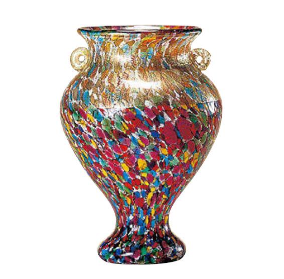 津軽びいどろ 花瓶 津軽びいどろ 大川薫工房 ねぶたまつり 花瓶(中) 石塚硝子 アデリア