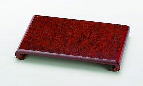 花瓶 台 飾り台 紫丹調 12.0 くり花台 (36×23×3.8cm) 19-27-11