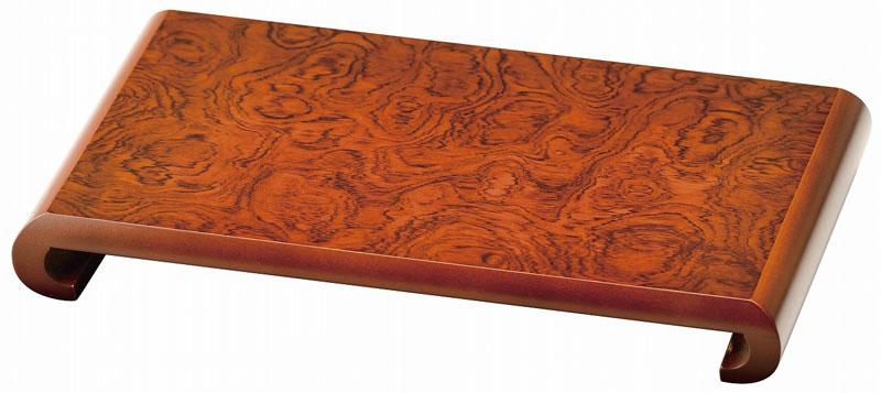 紫丹調 クリ 花台 12.0(36×23×3.8cm) 日本製 送料無料|かだい おしゃれ 花瓶 台 インテリア 置物 おすすめ 飾り台 床の間 長方形 角型 玄関の下 駄箱の上 床脇 オシャレ花台 かわいい花台 高級花台 床の間花台