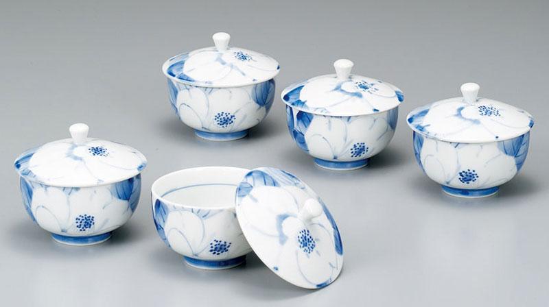 湯呑 セット 茶器セット 九谷焼 蓋付汲出揃 白椿 紅椿窯 ap4-0552
