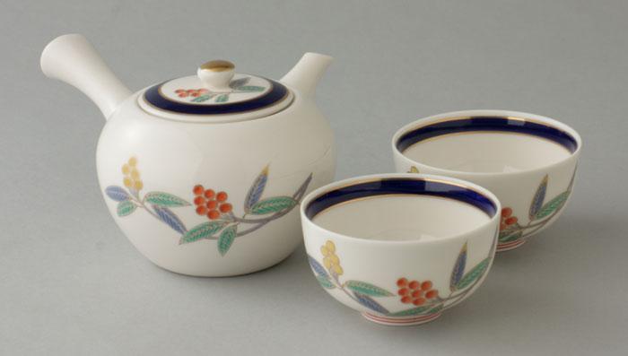 茶器セット 有田焼 千両 小茶器揃 (小急須1・小仙茶2) Y37-1Y38-2W