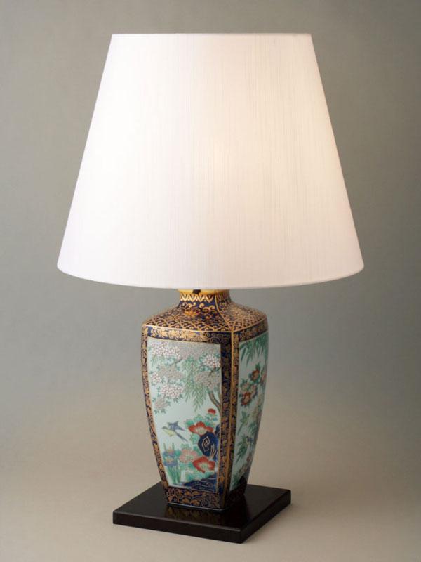テーブルランプ 卓上ランプ 有田焼 金彩花鳥図 ランプスタンド Y410-C