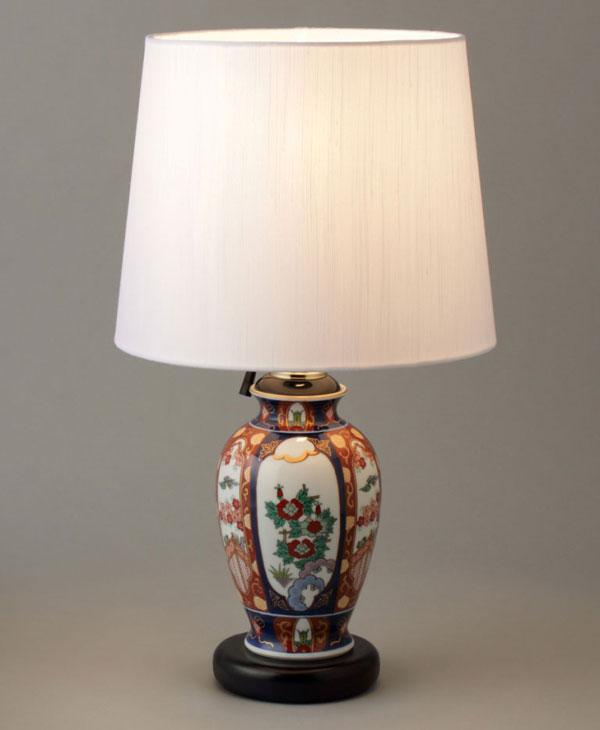 テーブルランプ 卓上ランプ 有田焼 古伊万里鳳凰 ランプスタンド Y407-C
