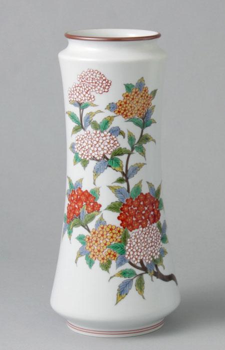 有田焼 8寸杵型花瓶 こでまり Y209-W