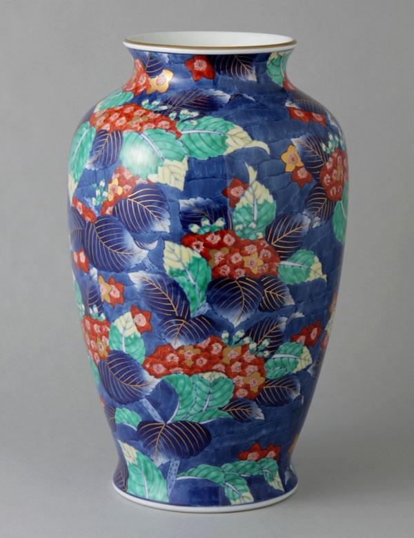 有田焼 12寸肩丸花瓶 うつぎ Y253-W