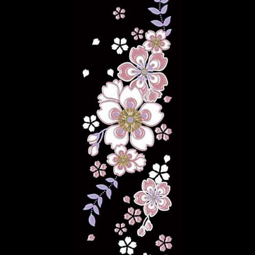 【蒔絵シール】 舞妓はんの華かんざし 4月(桜) 【ゆうパケット!※宅配便を選択時は送料がかかります(ご注文後にこちらで追加します)】