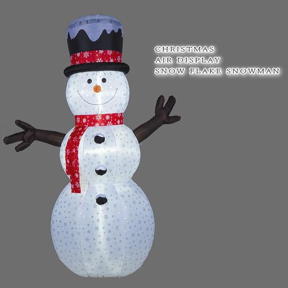 送料無料!光るエアーディスプレイ スノーフレークスノーマン 240cm (8506・エアーブロー エアブロウ クリスマスイルミネーション・店舗 ディスプレイ 飾り・イベント用)