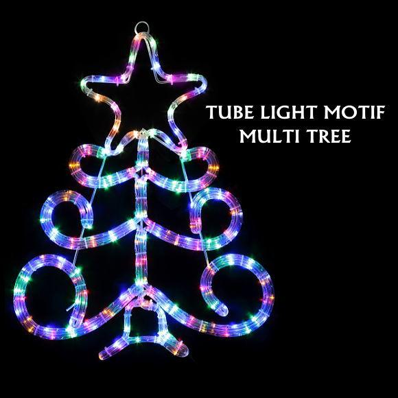 LEDチューブライトモチーフ マルチツリー (5306MU イルミネーション・ モチーフライト・おしゃれ・店舗 ディスプレイ・飾り 壁面)