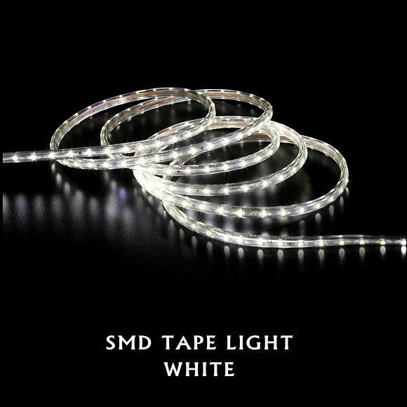 送料無料!SMDテープライト15m(ホワイト)(5387WH クリスマスイルミ 電飾 ストレート ロープライト 飾り 壁面 ベランダ お庭 玄関)