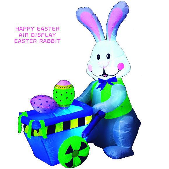 新製品!エアーディスプレイ イースターラビット 120cm(003 EASTER エアーブロー うさぎ ウサギ かわいい イベント 店舗装飾)