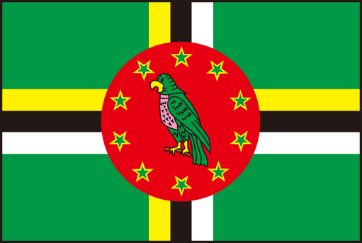 105cm 小サイズ・アクリル・国旗 ドミニカ国(Commonwealth of Dominica )・National flag【応援グッズ】