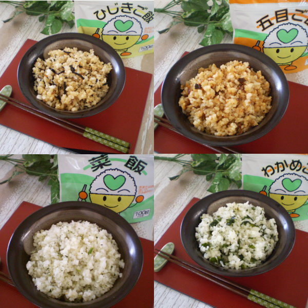 Limited trial alpha rice four kinds set (the United States desired: a brown alga, five kinds of, Nameshi, seaweed)