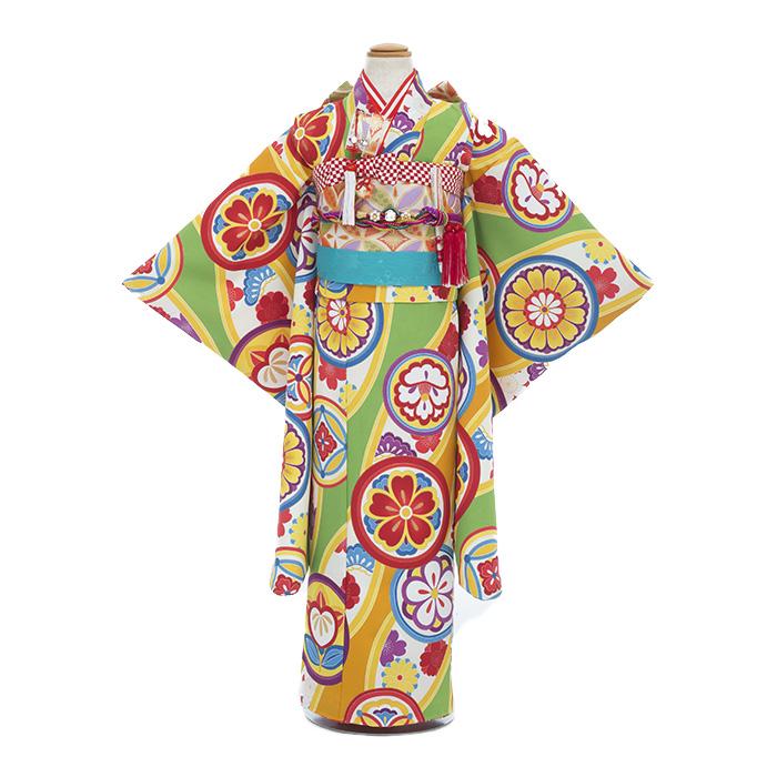 【レンタル】753 七五三 着物 7歳 フルセット 女の子 新品足袋プレゼント 子供 きもの 往復送料無料 髪飾り
