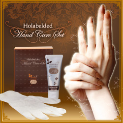Holabelded silk gloves (hand cream / silk gloves)