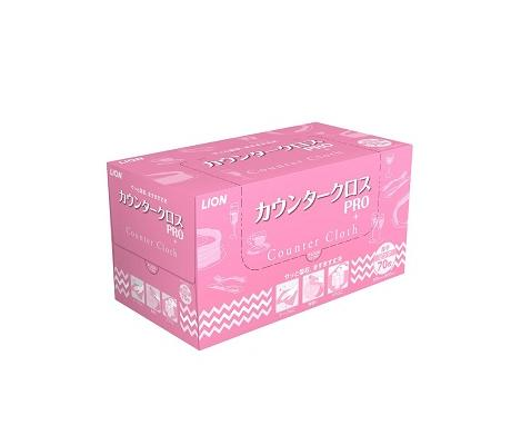 ライオンハイジーン カウンタークロス PRO ピンク 70枚×6個【ケース販売品】