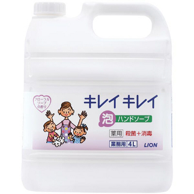 業務用 キレイキレイ 薬用泡ハンドソープ フローラルソープの香り 4L×3本