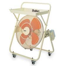 テラモト 電動清掃用品 扇風乾燥機 クールスイファン トレイ付き45C-1V