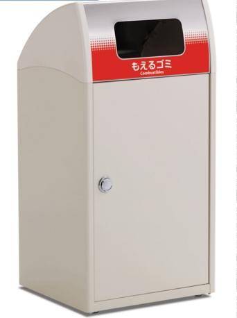 テラモト 施設用屑入 Trim(トリム)ST(ステン) G(グラデーション) もえるゴミ用ゴミ箱68リットル DS-188-911【受注生産品】