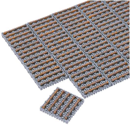 テラモト ナイロンブラッシュマットH-30 1平方メートル(1m×1m)