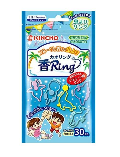 【送料無料】金鳥 虫よけ香リング ブルー フルーツの香り 30個入×40袋【ケース販売品】