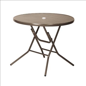 テラモト アルミフォールディングテーブル AL-F90RT(折りたたみ式) φ900×H725mm MZ6102020