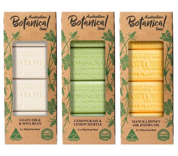 ショッピング 選べる3種類 ナチュラル 固形石鹸 1個で顔 体 200g×8個入り 人気ブレゼント バーソープ 手を全部使える ボタニカル オーストラリアン