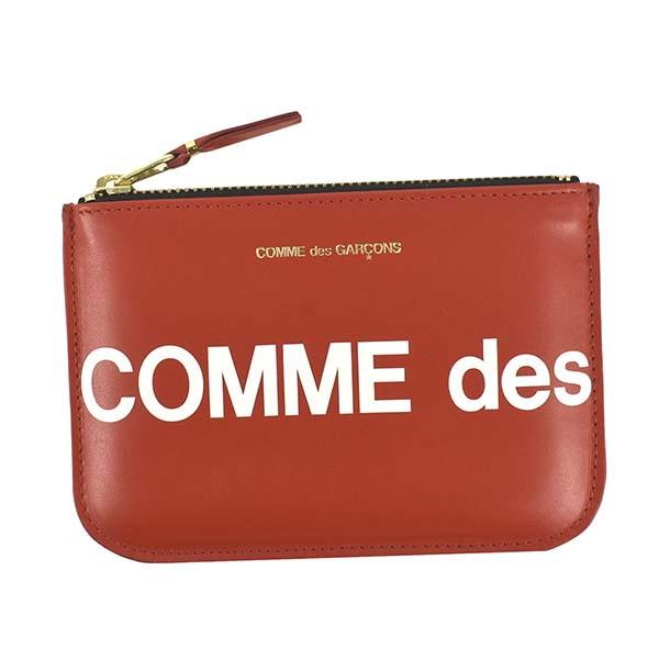 コムデギャルソン セール開催中最短即日発送 小物入れ 激安特価品 COMME des GARCONS メンズ ポーチ レディース HUGE LOGO レッド SA8100HL
