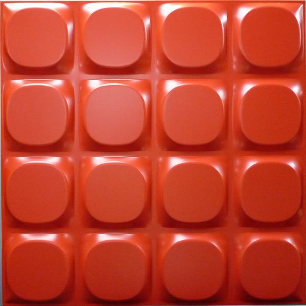 【NDSB5002RE12】3Dジン スチール製 赤色 12枚セット:1枚あたり2,340円 500×500mm