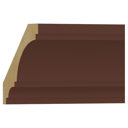格安 アウトレット モールディング 木製 表面シートラッピング NRWR468E 廻り縁 ウォールナット色 卸売り メーカー再生品 108×108×3600mm