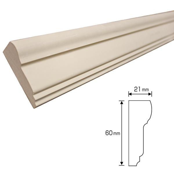 20%割引アウトレット 木製モールディング 下地塗装済 ワンコートモール 60×21×3400mm [NV-A343-Y]