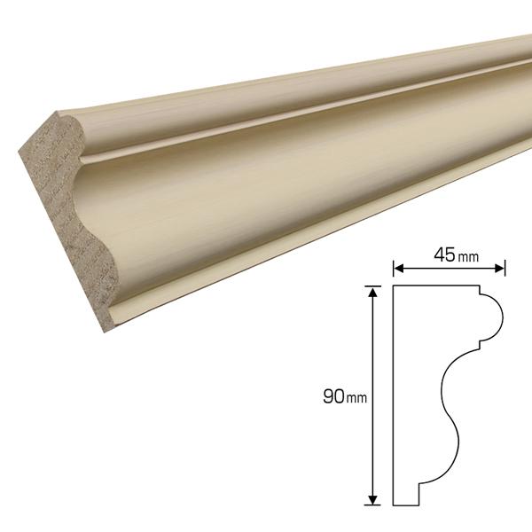 20%割引アウトレット 木製モールディング 下地塗装済 ワンコートモール 90×45×3400mm [NV41-Y]