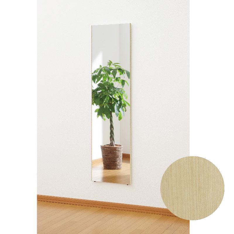 割れないリフェクスミラー 全身鏡 ウォールミラー 壁掛け 姿見 アンティーク かがみ ミラー 全身 鏡 インテリア 玄関 鏡 メープル [NRM012M] ※送料込 受注生産品