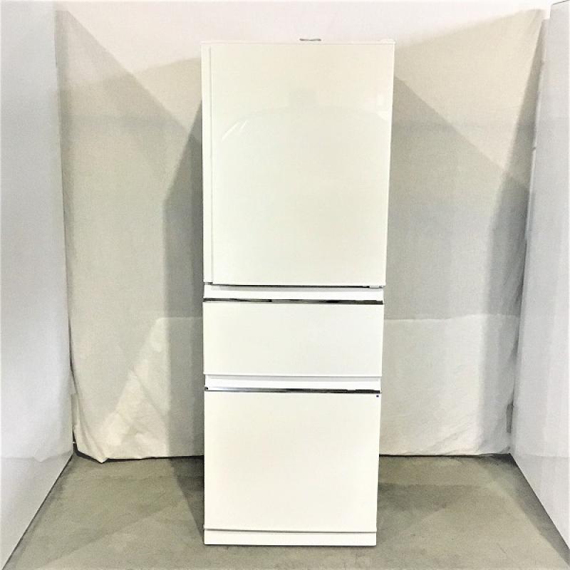 【中古品】 三菱 / MITSUBISHI MR-CX33C 3ドア冷蔵庫 右開き 氷点下ストッカー搭載 2018年製 330L パールホワイト 10004893