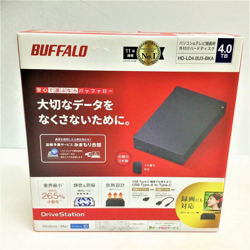 【新品・未開封】 バッファロー / BUFFALO HD-LD4.0U3-BKA 外付けHDD 2017年製 ブラック 4TB 10004943