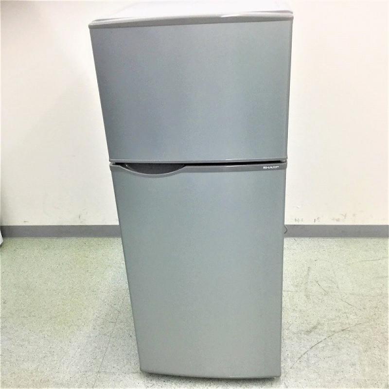 【中古品】 シャープ / SHARP SJ-H12B 2ドア冷蔵庫 右開き 2017年製 118L シルバー系 10006007